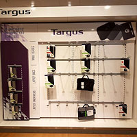 Bespoke Targus Display, courtesy of D&A Design Contracts