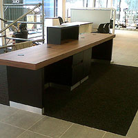 Car Showroom Reception Desk, courtesy of TMDP
