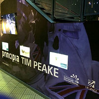 Tim Peake Bespoke Display Unit, courtesy of the National Space Centre